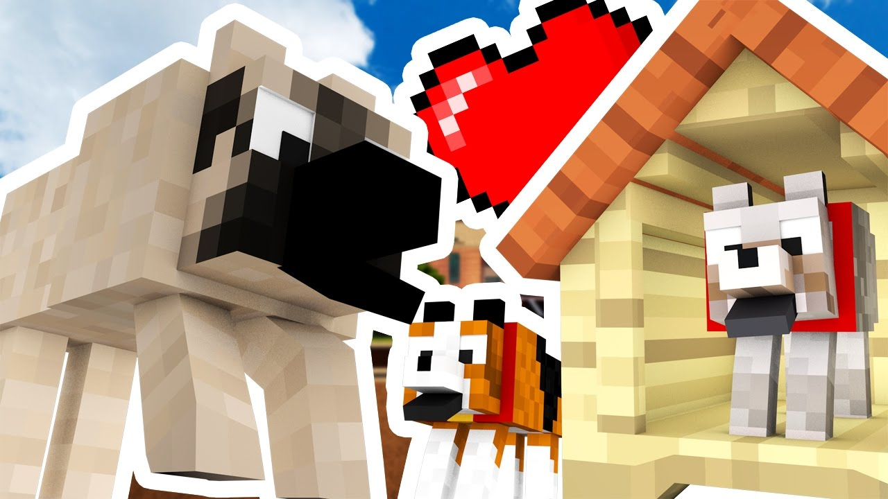 Minecraft Modded Hide And Seek - CUTE PUPPY MOD - Modded Dog Pet | JeromeASF