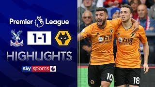 Diogo Jota snatches last gasp equaliser | Crystal Palace 1-1 Wolves | Premier League Highlights