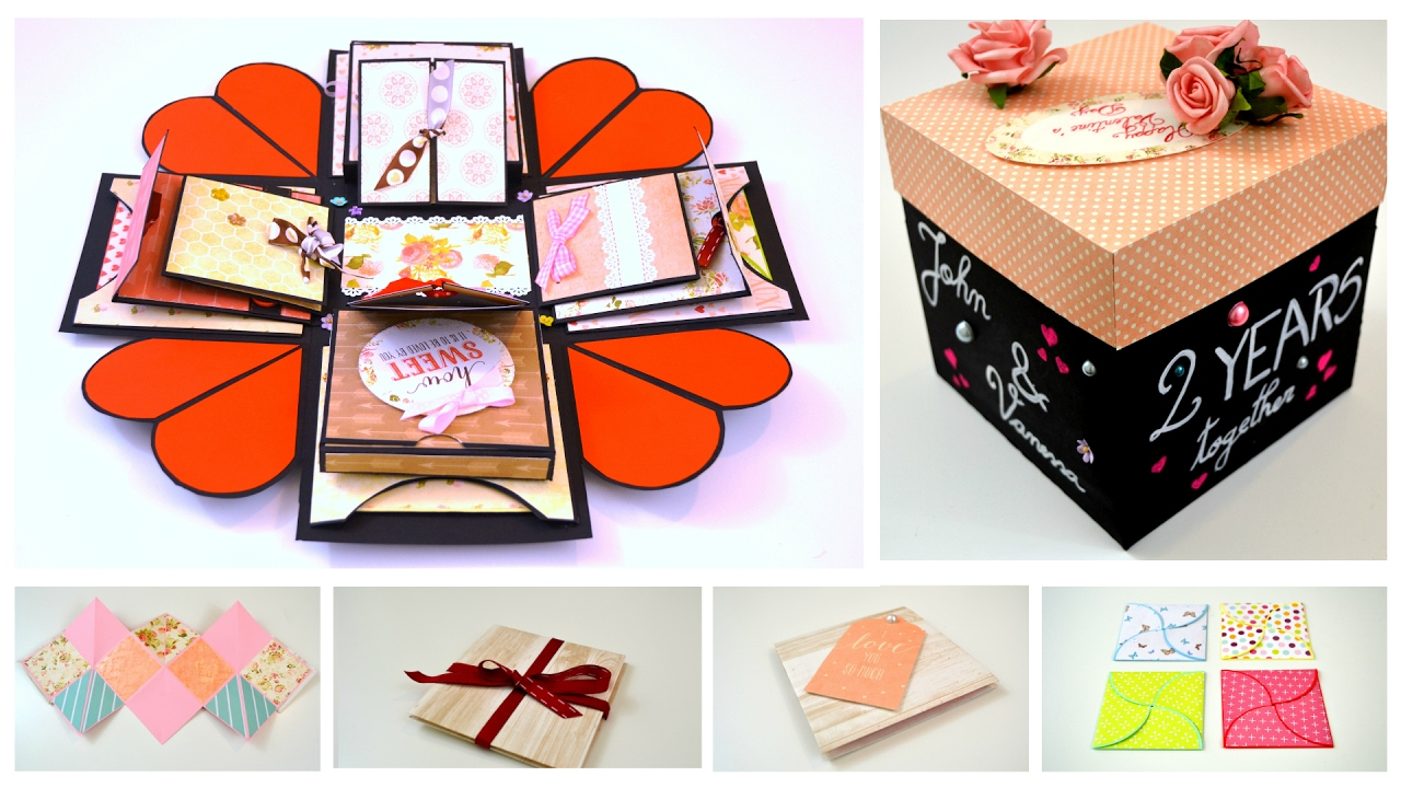 Diy crafts exploding explosion box anniversary gift proposal diy crafts exploding explosion box anniversary gift proposal idea card making by giulia youtube negle Gallery