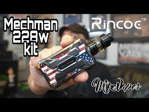 MechMan 228w Mesh Vape Kit By Rincoe