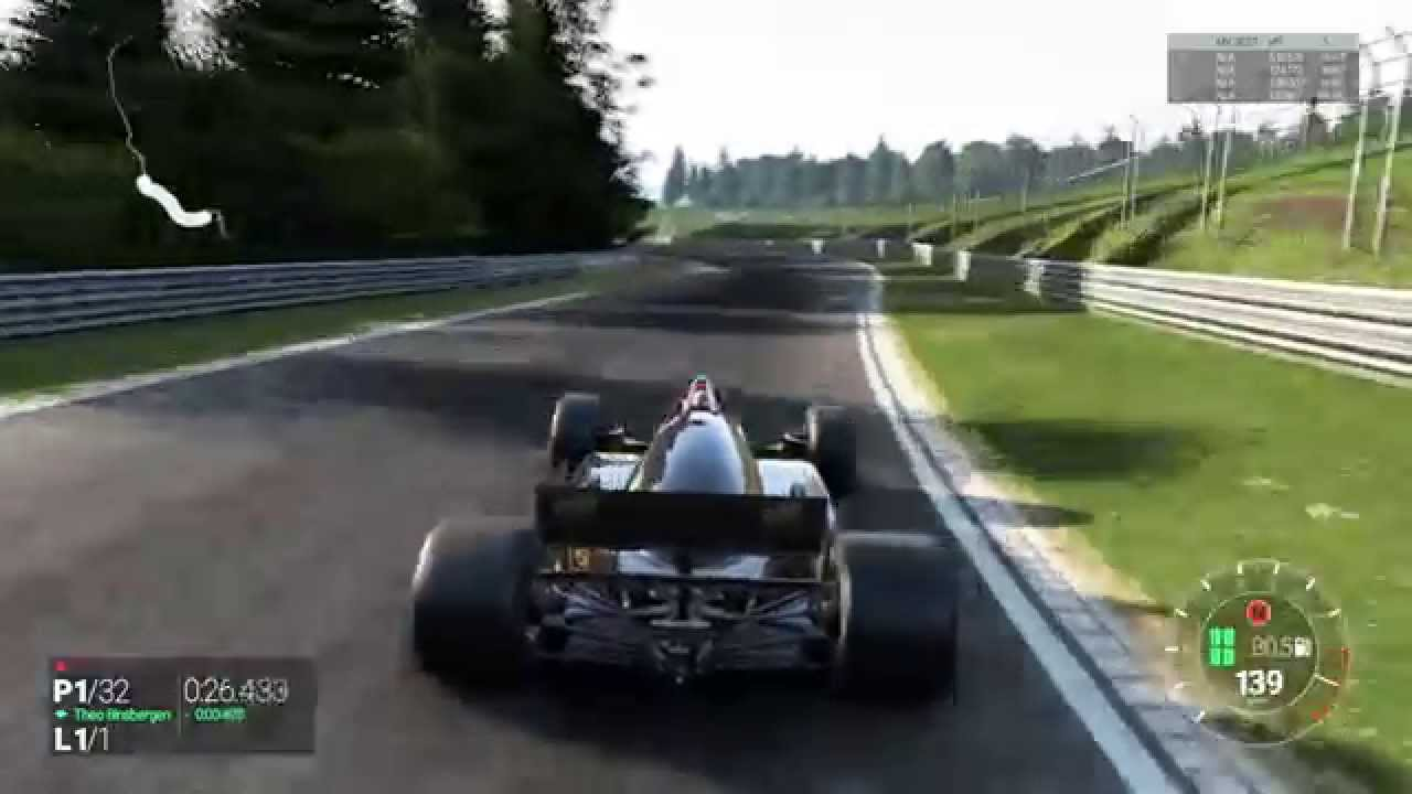 Project Cars Lotus 98t Renault Gameplay Nurburgring