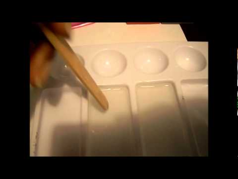(HOW2) acetate, rubberstamp,markers and resin