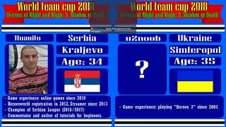 #52-4. Heroes 3. SoD. World Team Cup 2018! =Huanito (Serbia) vs u2noob (Ukraine). 6lm10a