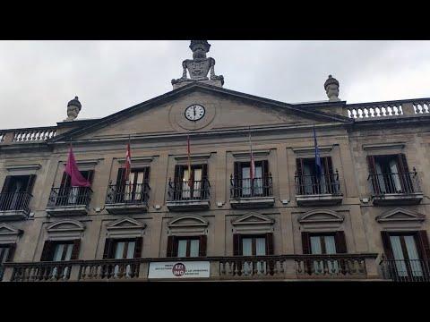 La Batalla de Vitoria en el reloj de la Plaza de España de Vitoria-Gasteiz
