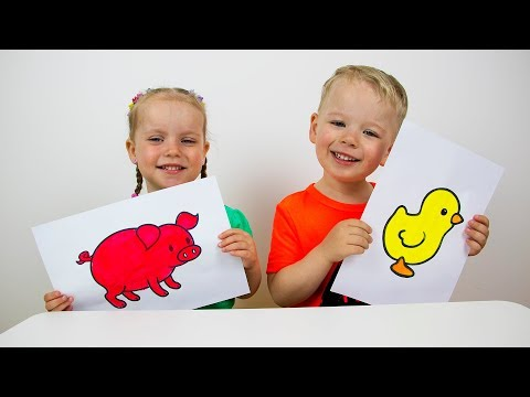 Educational activitiy for children with Finger Paints and Coloring 2