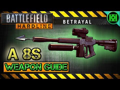 Battlefield Hardline A 8S Review (Gameplay) Best Gun Setup | BFH Weapon Guide (Harpoon Gun)(A8S)