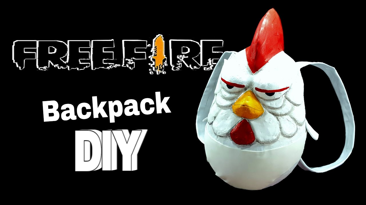 DIY- How to make the FREE FIRE Brother CHICKEN Backpack 🔥