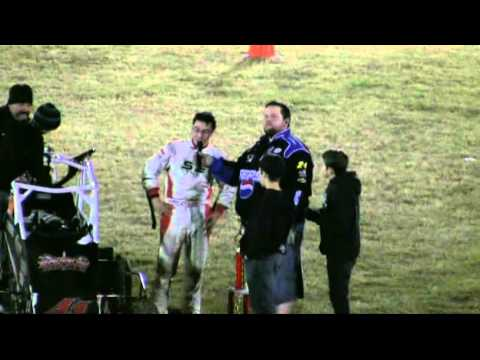 Dominic Scelzi 11/19/11 Victory Lane Super 600 Plaza Park Raceway