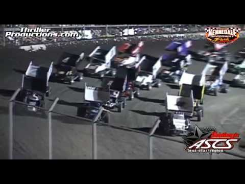 ASCS Lone Star Sprintcar highlights at Kennedale Speedway Park 3-16-13