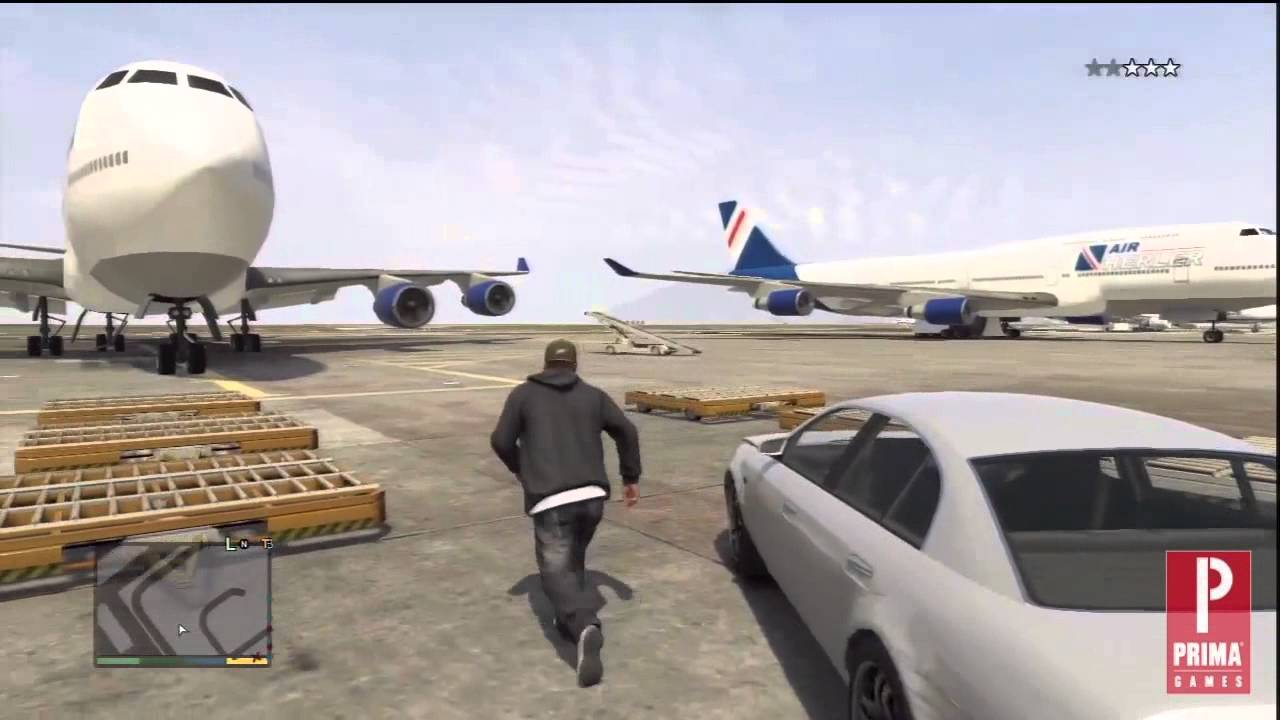 Gta 5 How To Steal A Jumbo Jet Video Strategy Prima Games