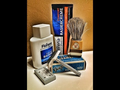 Vintage GDR Brush.... with the Florena Shave Cream