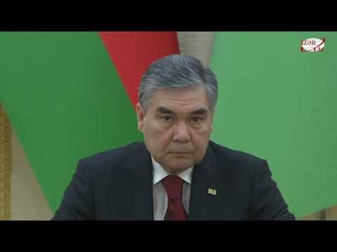 Президенты Азербайджана и Туркменистана выступили с заявлениями для печати