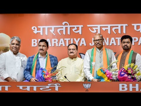 Four Telugu Desam Party Rajya Sabha Members Join BJP