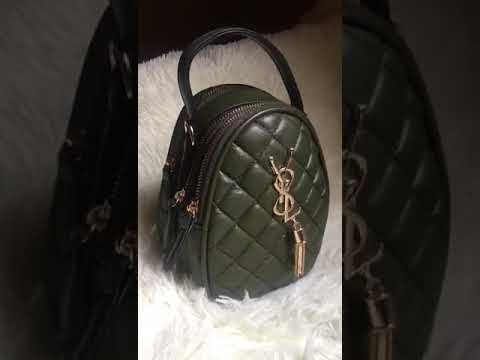 Olive Green YSL Chic Leather Bag