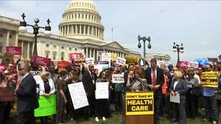 Protests Erupt After House Republicans Pass Healthcare Bill That Could Hike Premiums for Millions
