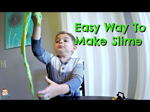 Easy Way To Make Slime For Kids | 5 Minute DIY | 🌈 Toddlers