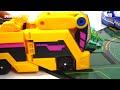 Dino Mecard tiny dinosaur duel in battlefield  Capture car  shooter  Mega tyranno    DuDuPopTOY