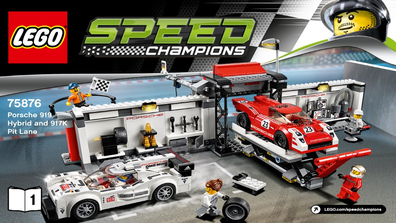 lego 75876 porsche 919 hybrid and 917k pit lane speed champions instruction booklet youtube. Black Bedroom Furniture Sets. Home Design Ideas