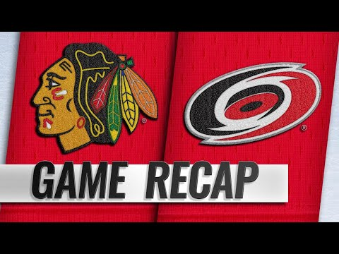 Aho scores in OT as Hurricanes rally past Blackhawks