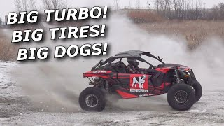 Project BIG DOG! Maverick X3 goes EVO 310hp and RIPS A TIRE OFF!