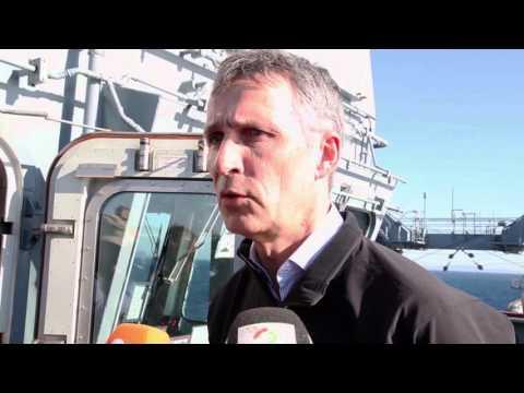 NATO Secretary General visits NATO flagship in Aegean Sea
