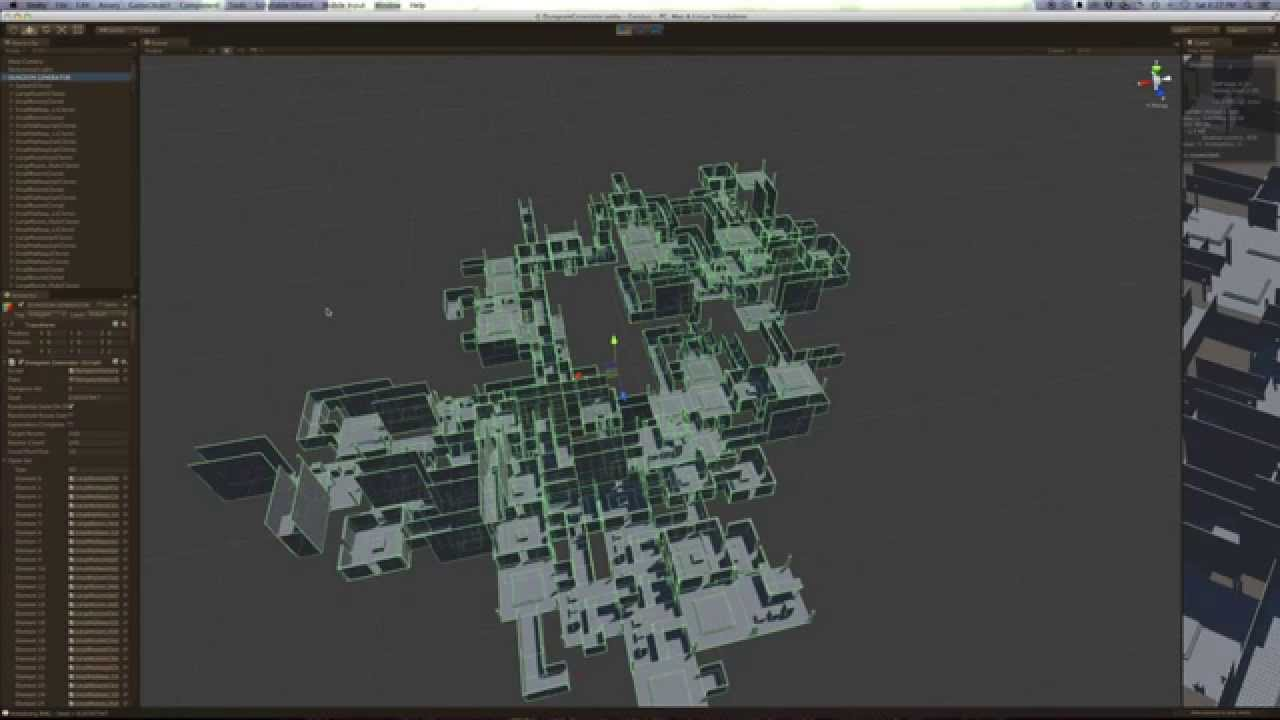 Unity3d Dungeon Generator Youtube