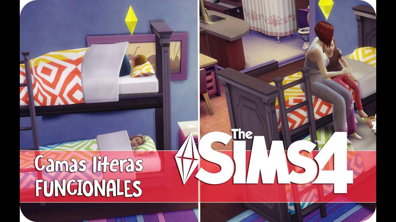 Camas literas funcionales en los sims 4 contenido - Literas de 3 camas ...