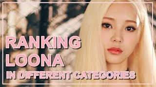 RANKING LOONA OT12 IN DIFFERENT CATEGORIES [PREDEBUT VER.]