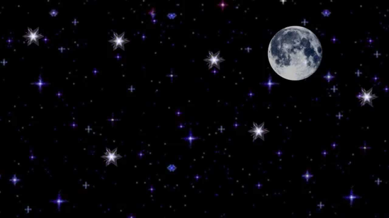 Картинка с анимацией звезд в небесах