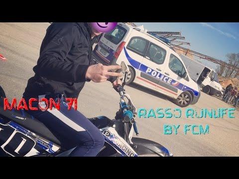 Rassemblement Moto 50cc Macon en Derbi 70 2Fast (Carburateur trop petit) + Police