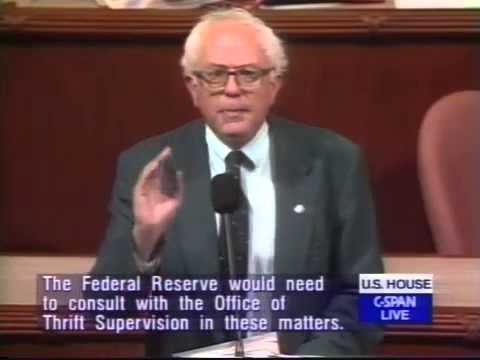 Bernie Sanders on the Big Banks and Repeal of Glass-Steagall Act (7/1/1999)