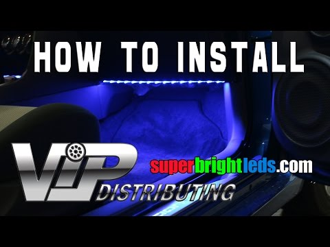 How To Install Led Footwell Lights With Rgb Led