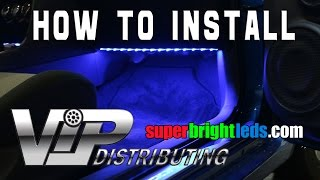 how to install led footwell lights with rgb led strips