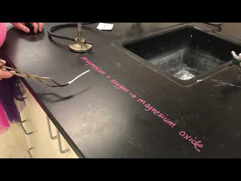 Magnesium Combines With Oxygen To Produce Magnesium Oxide