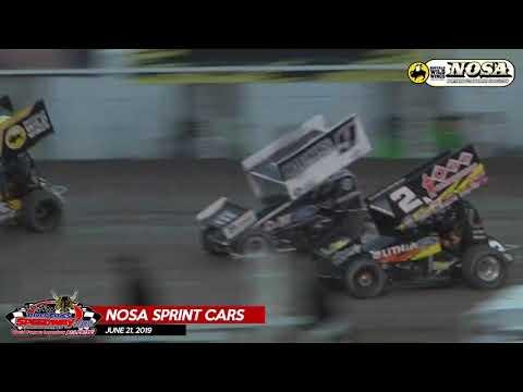 06/21/19 NOSA Sprints - River Cities Speedway