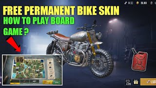 PUBG MOBILE FREE PERMANENT BIKE SKIN |NEW WALKING DEAD EVENT IN PUBG MOBILE | HOW TO PLAY BOARD GAME
