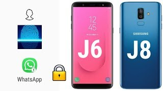 How to Set FingerPrint and Face ID to unlock apps in Samsung J6 and J8 | Live in Hindi