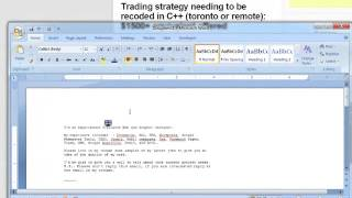 Lesson learned about hiring quant reasearcher or  C++ coder for DB forex trading strategy,