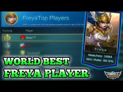 BEST WORLD FREYA PLAYER GAMEPLAY + BUILD | MOBILE LEGENDS