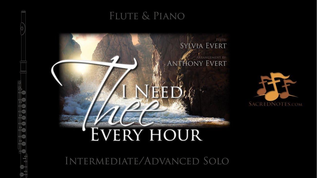 Señor te necesito | Instrumental flauta y piano