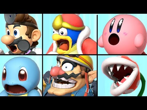 All Characters Reacting to a Final Smash in Super Smash Bros Ultimate (+ Piranha Plant) thumbnail
