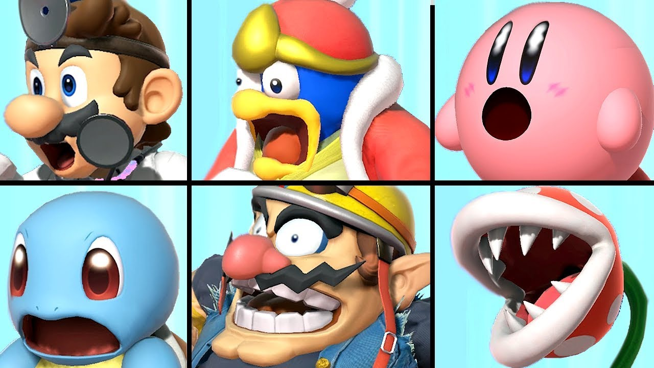 All Characters Reacting To A Final Smash In Super Smash Bros Ultimate Piranha Plant