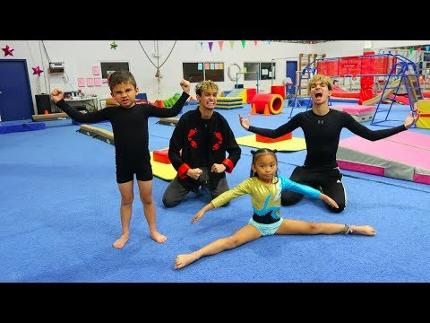 OUR LITTLE BROTHER VS SISTER GYMNASTICS BATTLE!
