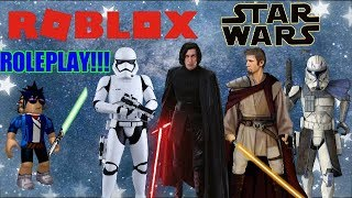 CREATING STAR WARS CHARACTERS!!! - Roblox Star Wars - First Order Roleplay!!!