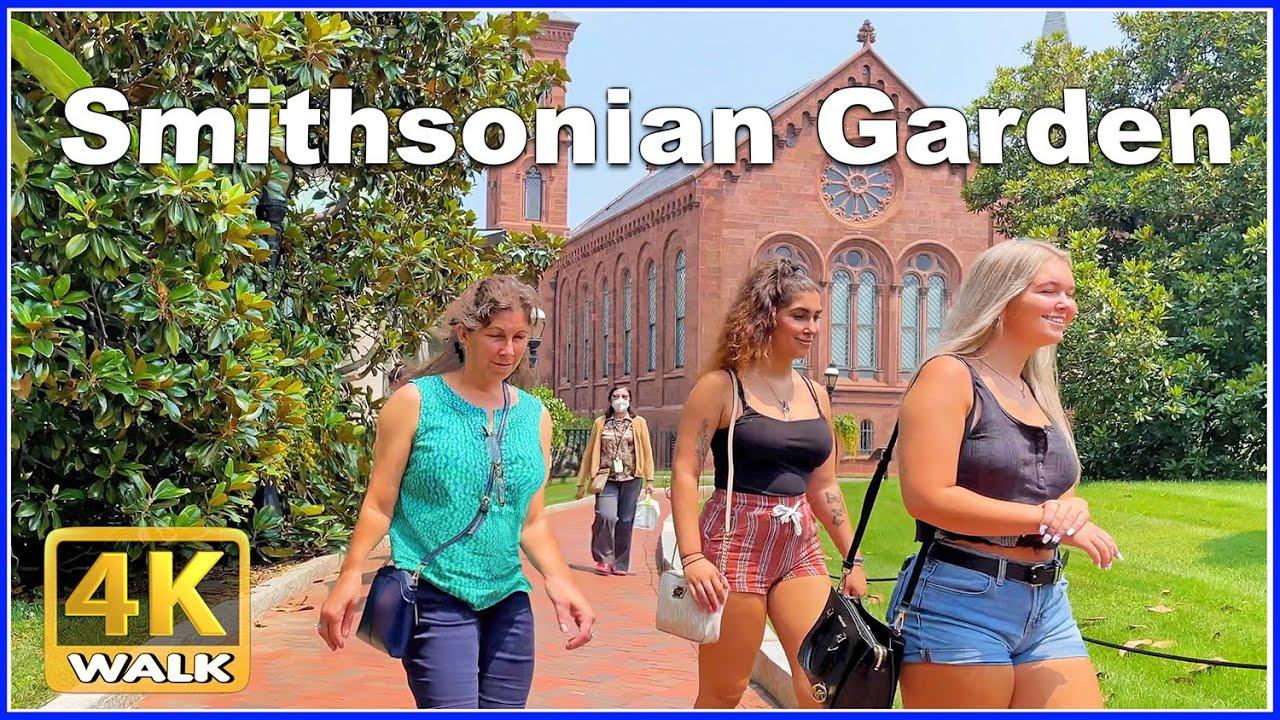 [4K]  WALK Smithsonian Gardens WASHINGTON DC USA 4k video HDR