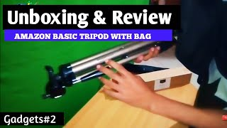 Unboxing Review Amazon Basic Tripod With Bag || How to Use Tripod For Shot Video | Deal 899Rs