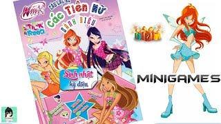 Minigame #1 tặng Búp bê - Sách chơi trò chơi, tô màu, dán hình TIÊN NỮ Winx #7