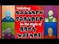 Drawing Matthew Santoro in Andy Warhol Style Pop Art