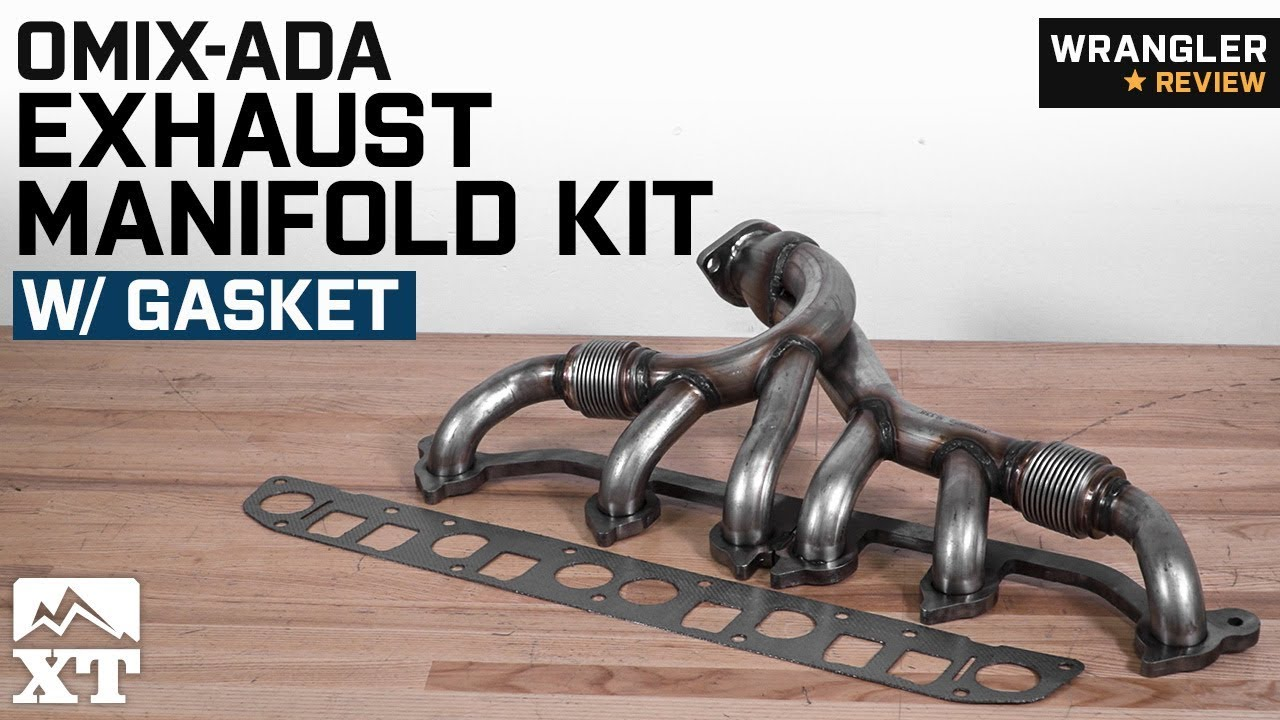 small resolution of jeep wrangler omix ada exhaust manifold kit w gasket 1991 1999 4 0l yj tj review