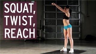 Exercise Tutorial - Squat, Twist, Reach